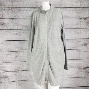 Eileen Fisher Full Zip Up Long Jacket Sweatshirt S